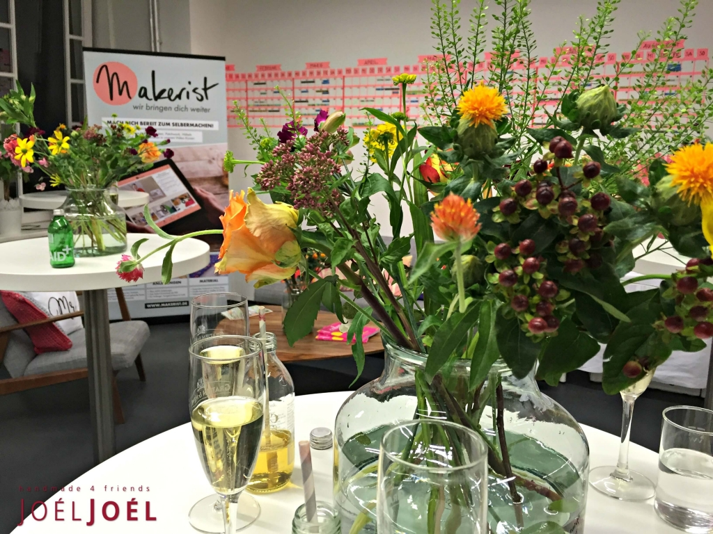 Blumendeko Makerist Bloggertreffen Berlin