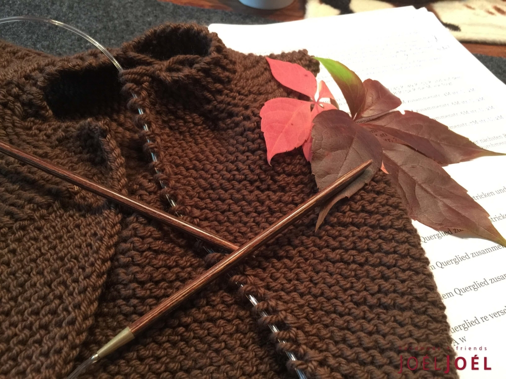 Stricken ohne Naht, Probestricken, Babyjacke, Stricken