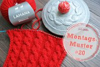 Montagsmuster, stricken, Anleitung, Muster, Wolle, DIY
