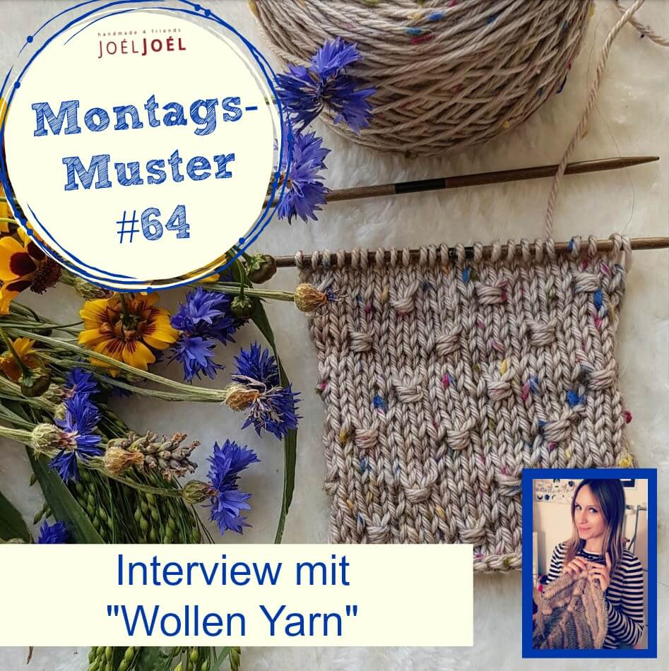 Montagsmuster, Interview, stricken, Strickmuster, Anleitung, Wolle
