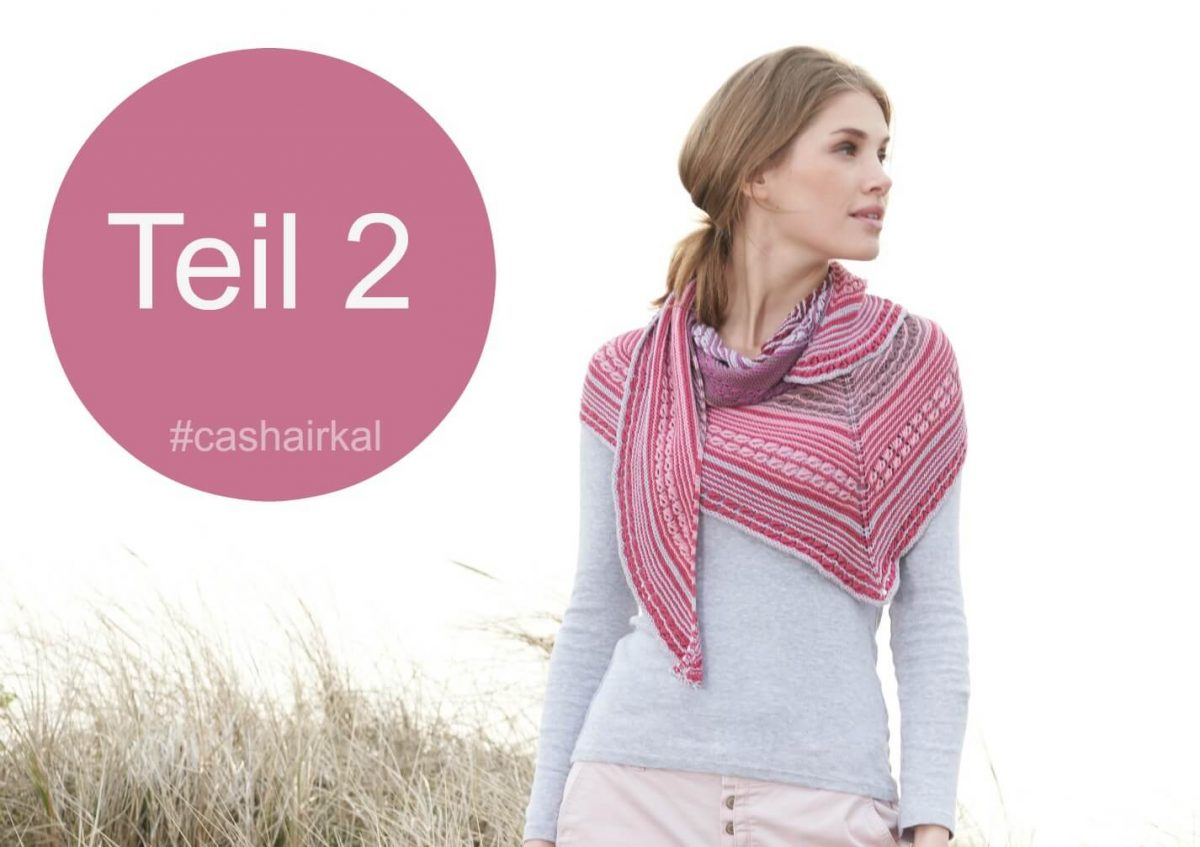 cashairkal, stricken, Wolle, Tuch, Design, KAL