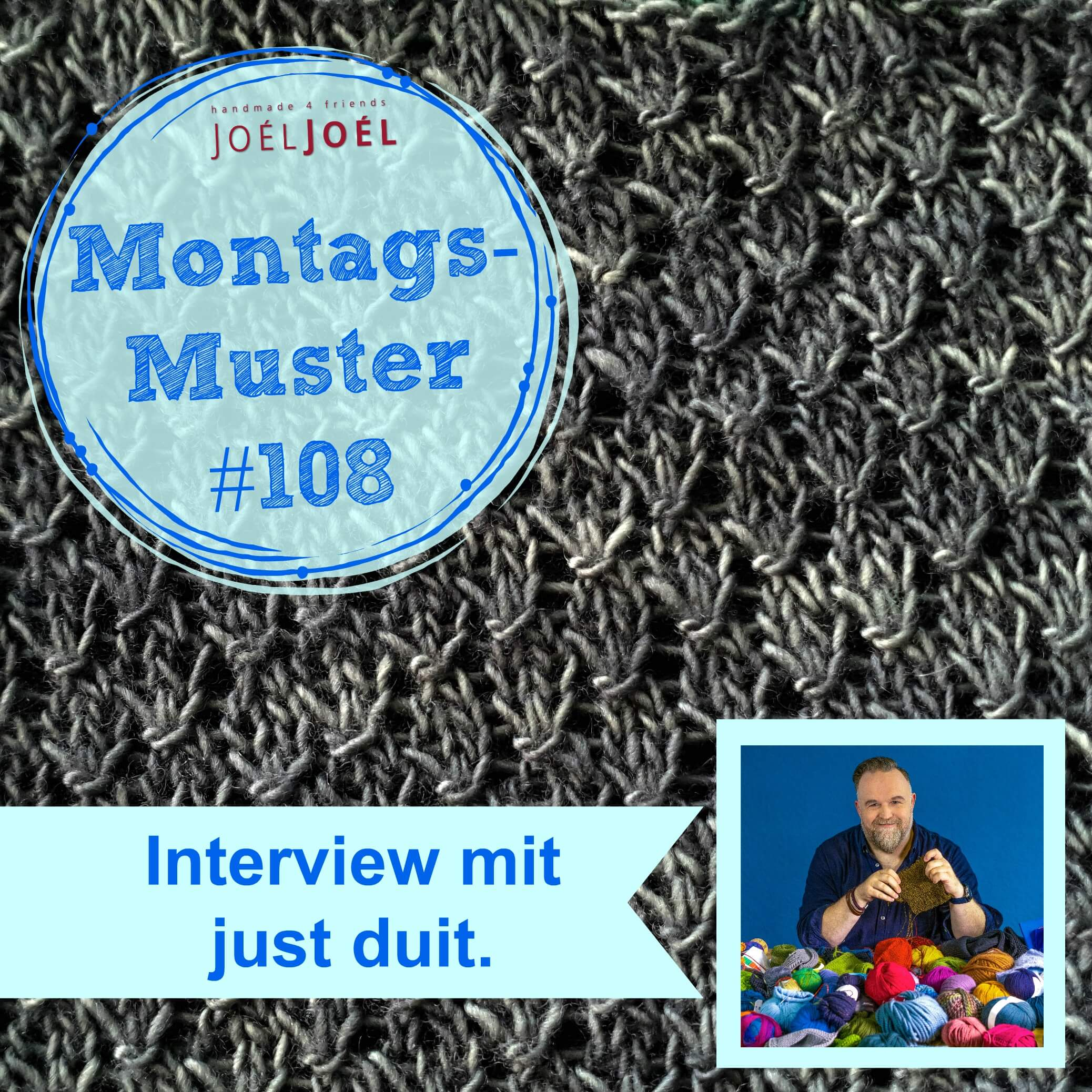 Montagsmuster, stricken, Interview, Strickmuster, Anleitung, Wolle