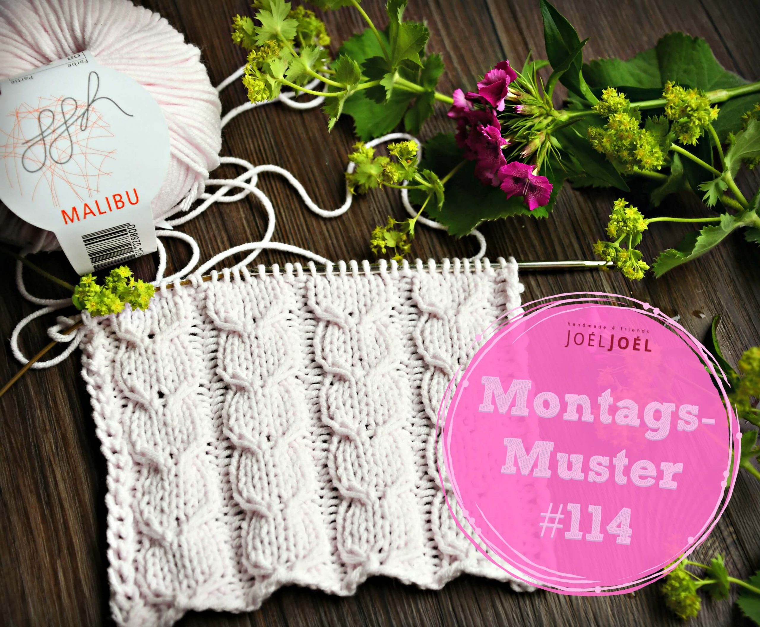 Montagsmuster, stricken, Wolle, Strickmuster, Anleitung, Sommer