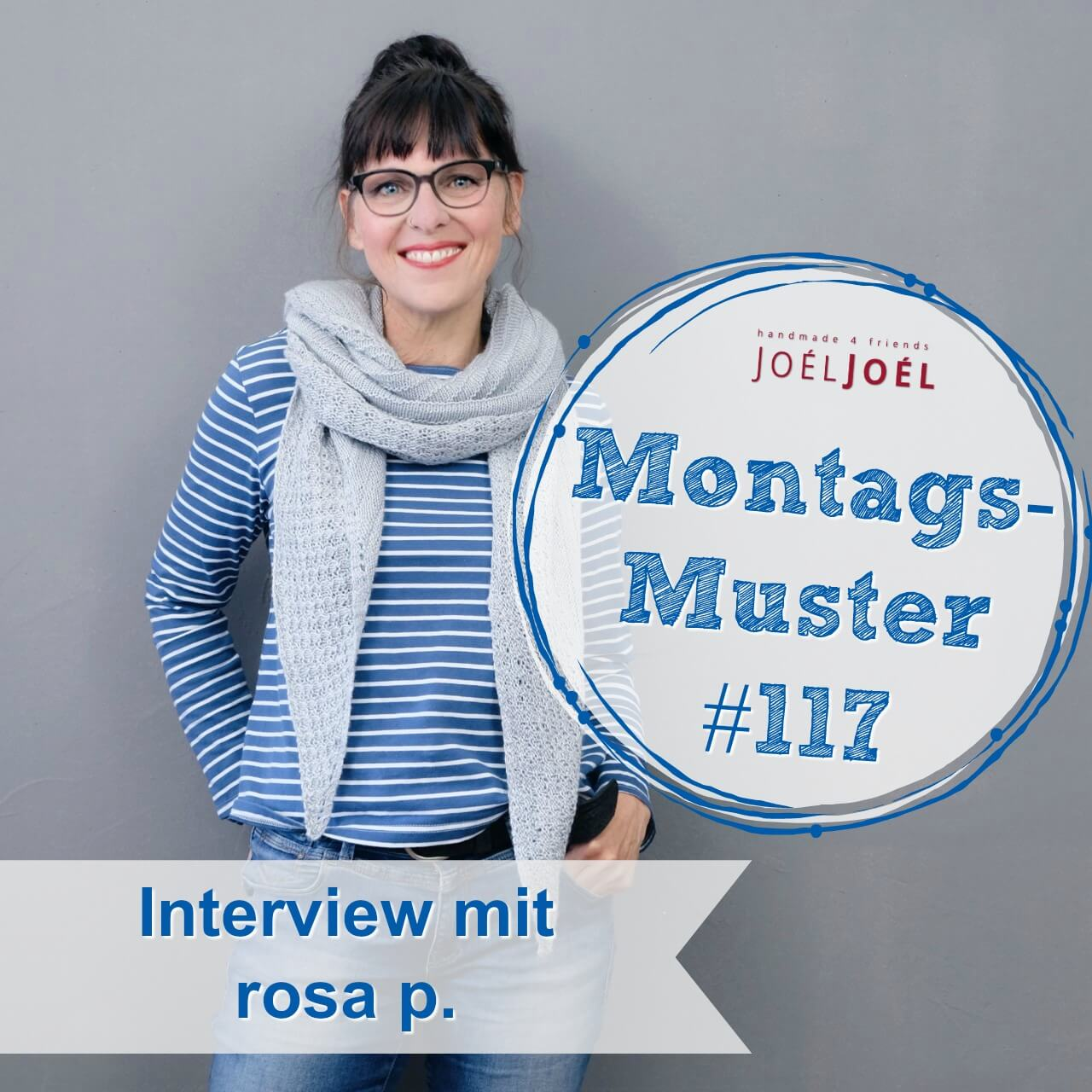 Montagsmuster, stricken, Interview, Strickanleitung, Wolle, rosa p.
