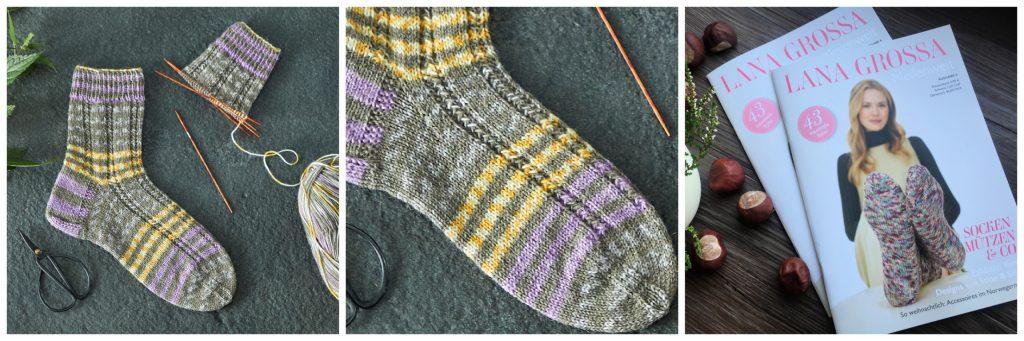 Socken, Meilenweit, Design, Strickanleitung, Lana Grossa