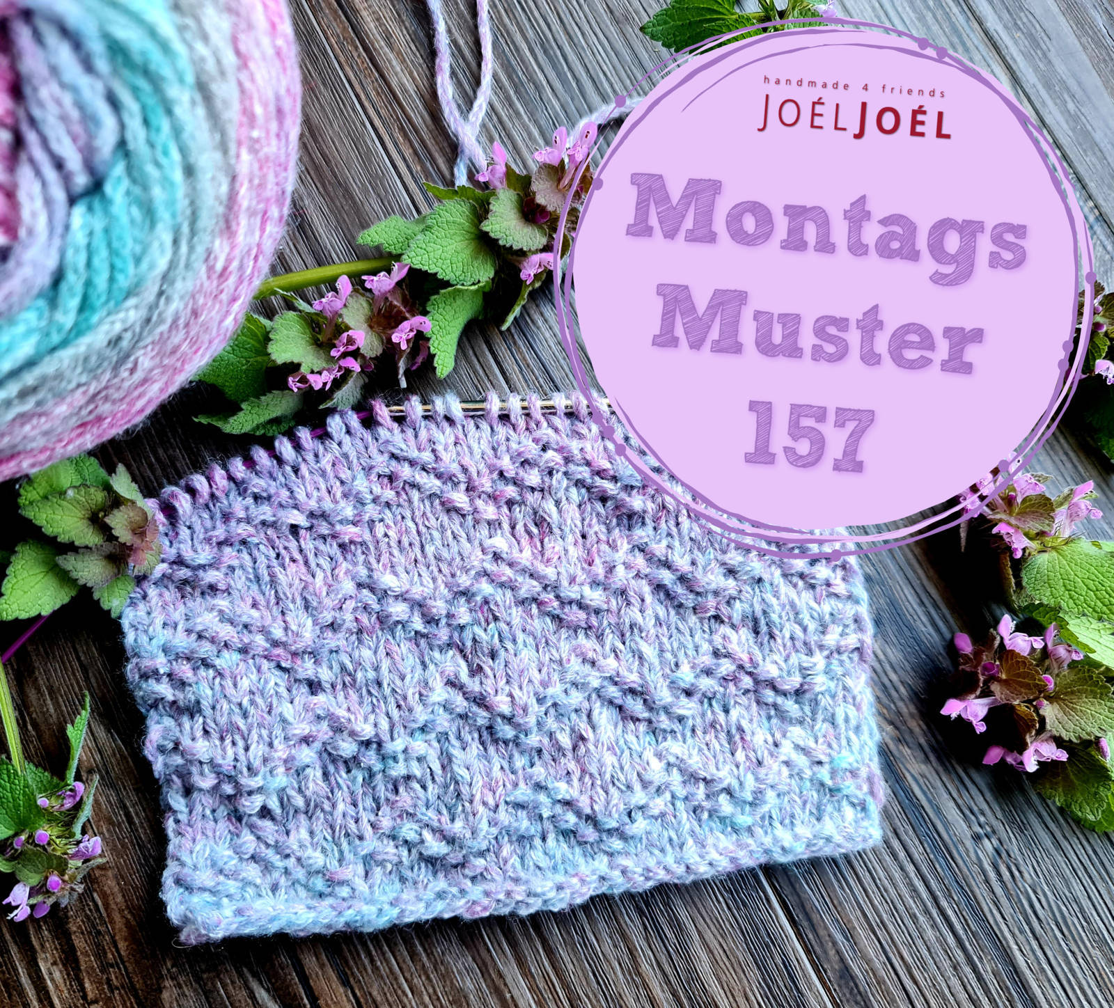 Montagsmuster, stricken, Strickmuster, Wolle, DIY